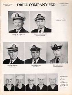 1961 Drill Company 5920 USNTC Great Lakes Recruits Page 1