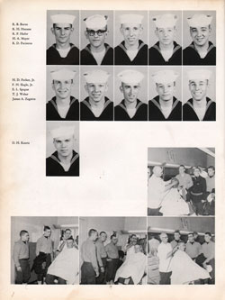 1961 Drill Company 5920 USNTC Great Lakes Recruits Page 2