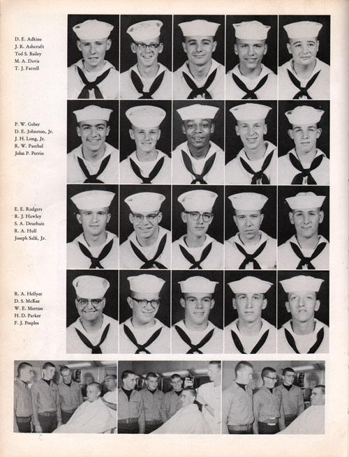 1961 Drill Company 5921 USNTC Great Lakes Recruits Page 2