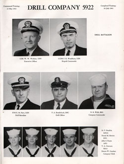 1961 Drill Company 5922 USNTC Great Lakes Recruits Page 1