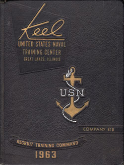 1963 Company 410 Great Lakes US Naval Training Center Roster - The Keel