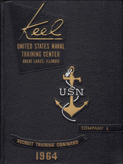 USNTC - Great Lakes - The Keel - Company 4 Yearbook 1964