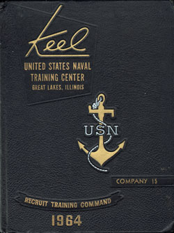 Front Cover, Navy Boot Camp 1964 Company 015 The Keel