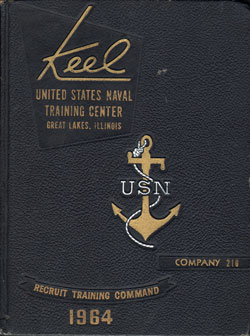 USNTC - Great Lakes - The Keel - Company 210 Yearbook 1964