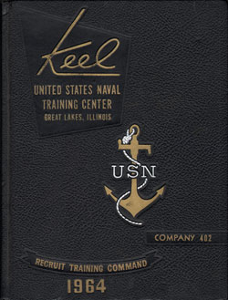 Front Cover, Navy Boot Camp 1964 Company 402 The Keel