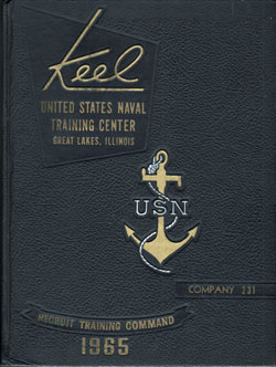 Front Cover, Navy Boot Camp 1965 Company 231 The Keel