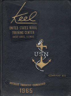 Front Cover, Navy Boot Camp 1965 Company 410 The Keel