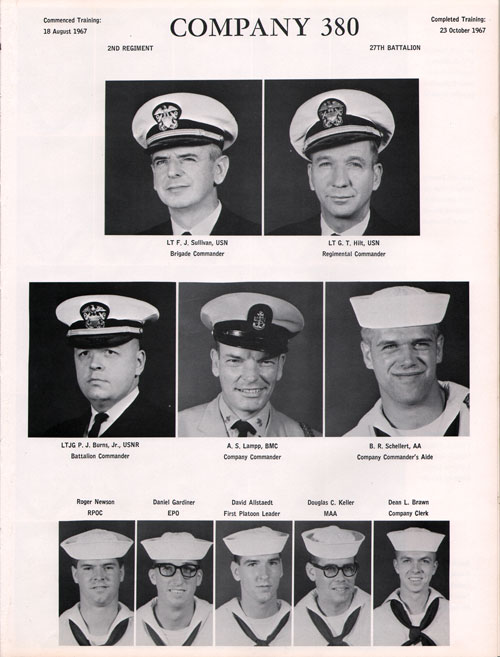Great Lakes USNTC Company 67-380 Recruits, Page 1