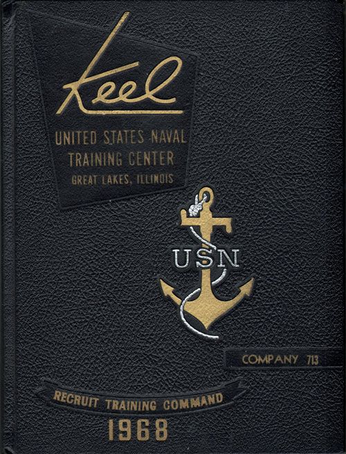 USNTC - Great Lakes - The Keel - Company 713 Yearbook 1968