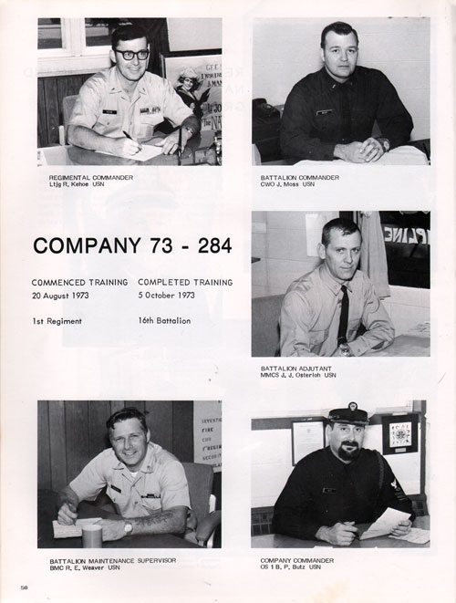 Company 73-284 Recruits Page One
