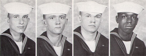 Company 72-016 Recruits, K. N. McCollough, Curtis McCraw, Richard McFeely, Heyward Miller