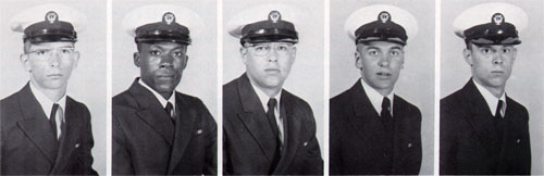 Row 5: Michael Cross, Sammy Davis, John Dillingham, William Eitreim, Kevin Entz