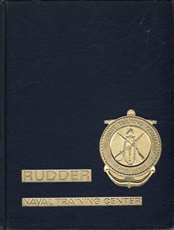 Front C0ver - Navy Boot Camp Book 1977 Company 378 The Rudder