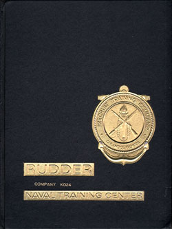 Front Cover - Navy Boot Camp Book 1982 Company K024 The Rudder