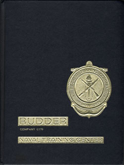 Front Cover, Navy Boot Camp Book 1986 Company C170 The Rudder