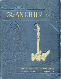 Front Cover, Navy Boot Camp Book 1958 Company 226 The Anchor