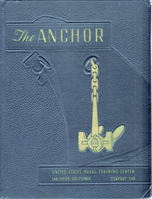 Front Cover, Navy Boot Camp Book 1958 Company 548 The Anchor