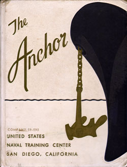 Front Cover, Navy Boot Camp Book 1959 Company 093 The Anchor
