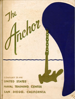 Front Cover, Navy Boot Camp Book 1959 Company 446 The Anchor