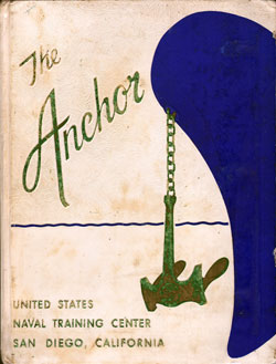Front Cover, Navy Boot Camp Book 1960 Company 168 The Anchor