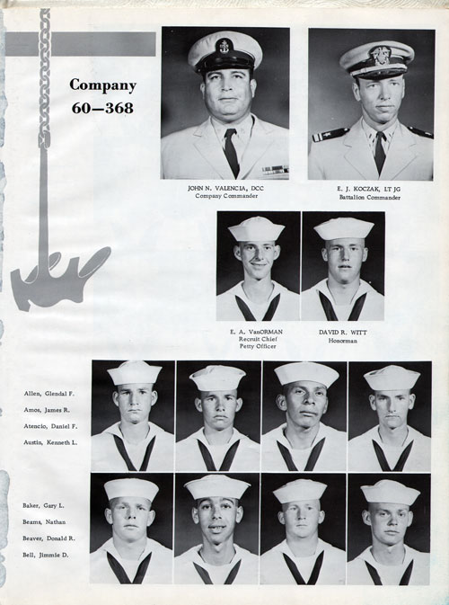 Company 60-368 Recruits Page One