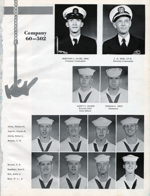 Company 60-502 Recruits Page One