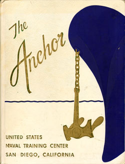 Front Cover, Navy Boot Camp Book 1960 Company 594 The Anchor