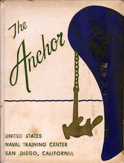 Front Cover, Navy Boot Camp Book 1960 Company 597 The Anchor