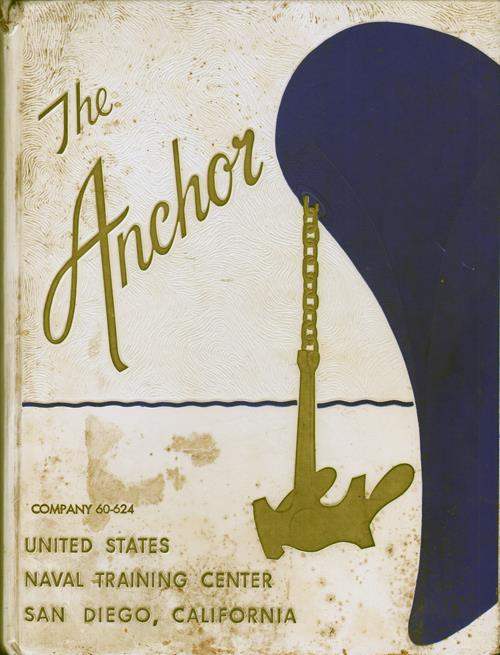 Front Cover, Navy Boot Camp Book 1960 Company 624 The Anchor