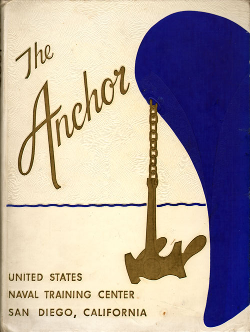 Front Cover, Navy Boot Camp Book 1961 Company 041 The Anchor