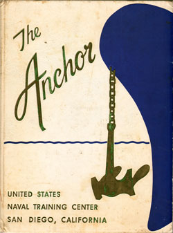 Front Cover, Navy Boot Camp Book 1962 Company 525 The Anchor