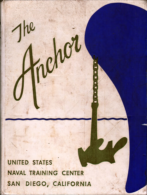 Front Cover, Navy Boot Camp Book 1962 Company 587 The Anchor