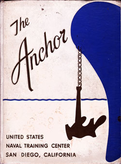 Front Cover, Navy Boot Camp Book 1964 Company 102 The Anchor