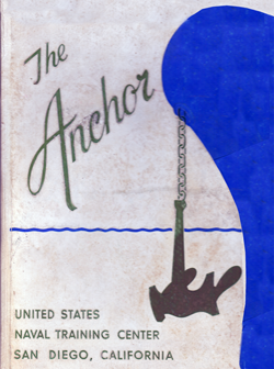 Front Cover, Navy Boot Camp Book 1964 Company 313 The Anchor