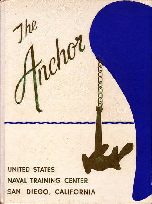 Front Cover, Navy Boot Camp Book 1964 Company 322 The Anchor