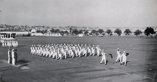 Company 64-322 Recruits Passing in Review