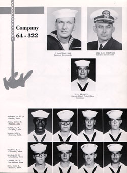 Navy Boot Camp San Diego Yearbook 1964 Company 322 Gg