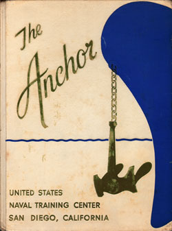 Front Cover, Navy Boot Camp Book 1964 Company 358 The Anchor
