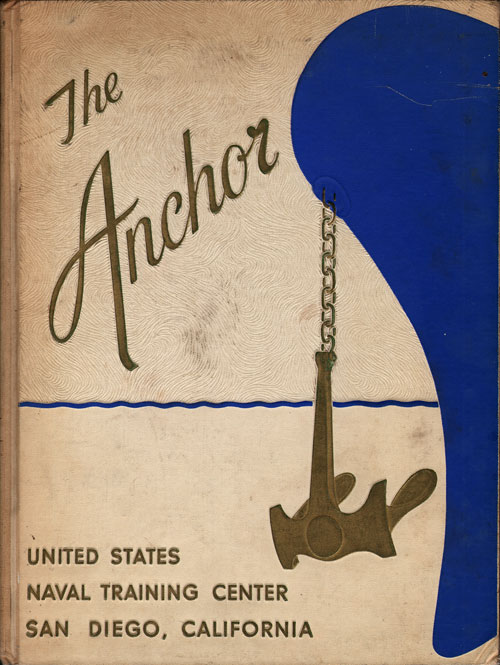 Front Cover, Navy Boot Camp Book 1964 Company 577 The Anchor