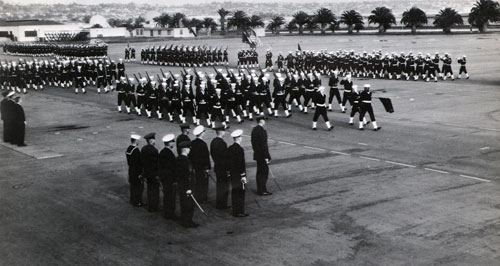 Company 64-577 Recruits Passing in Review