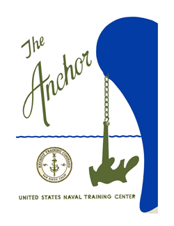 Front Cover, Navy Boot Camp Book 1965 Company 348 The Anchor