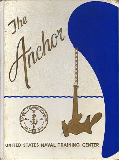Front Cover, Navy Boot Camp Book 1965 Company 505 The Anchor