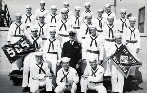 Group Photo of Company 65-505 Commander R. L. Snow, MMC, and Petty Officers, 26 November 1965