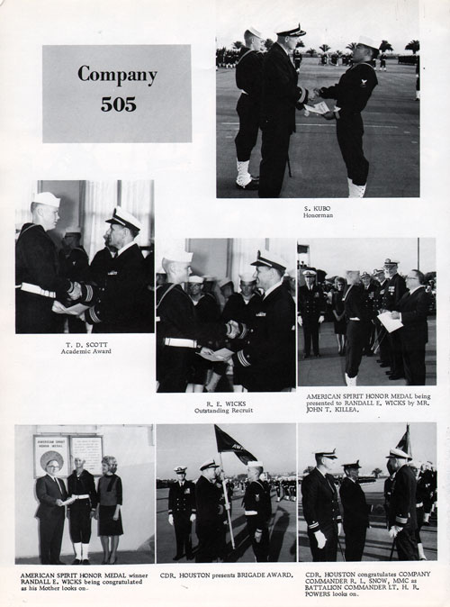 Company 65-505 Recruit Honors