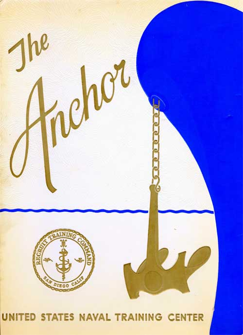 Front Cover, Navy Boot Camp Book 1966 Company 237 The Anchor