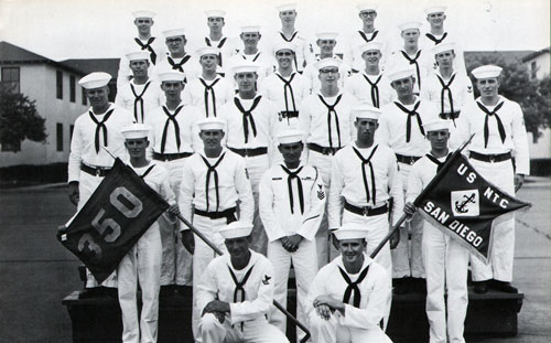 Group Photo of Company 67-350 Commander J. D. Cruz, GMG1, and Petty Officers, 11 September 1967