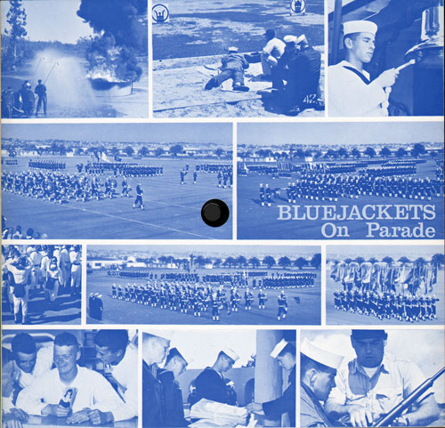 Company 67-618 Blue Jackets on Parade Record Album Front Cover