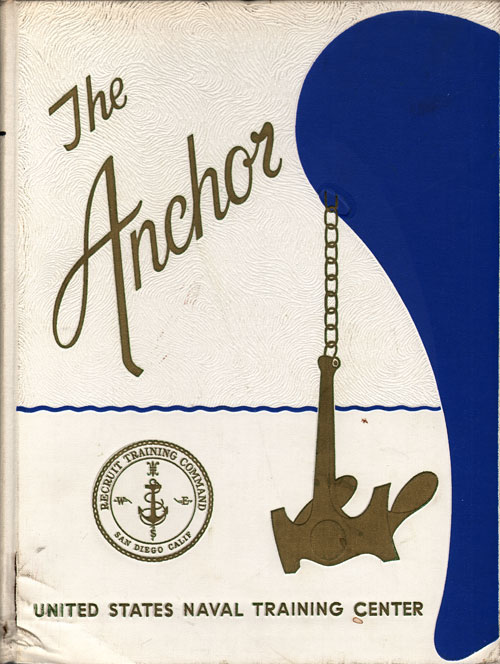 Front Page, Navy Boot Camp Book 1968 Company 054 The Anchor