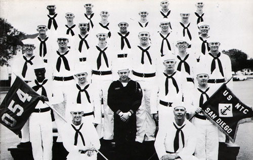 Group Photo of Company 68-054 Commander B. C. Mullins, SF1, and Petty Officers, 18 March 1968