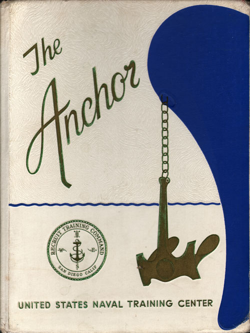 Front Cover, Navy Boot Camp Book 1968 Company 179 The Anchor